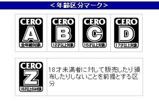 CERO新レーティング表示