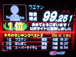 上野顕太郎氏99点!